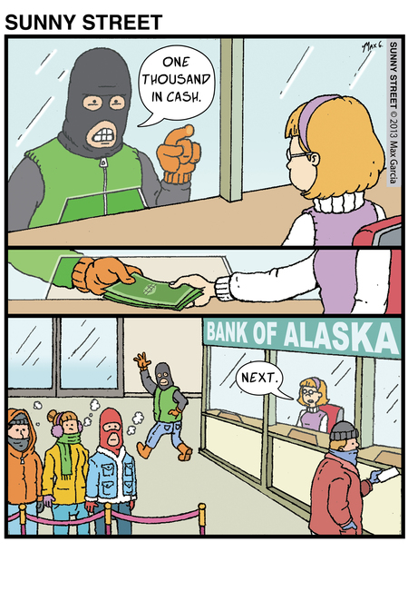 Sunny Street Comic Strip for May 13, 2013