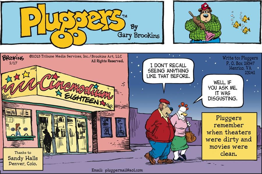 Pluggers for Feb 17, 2013 Comic Strip