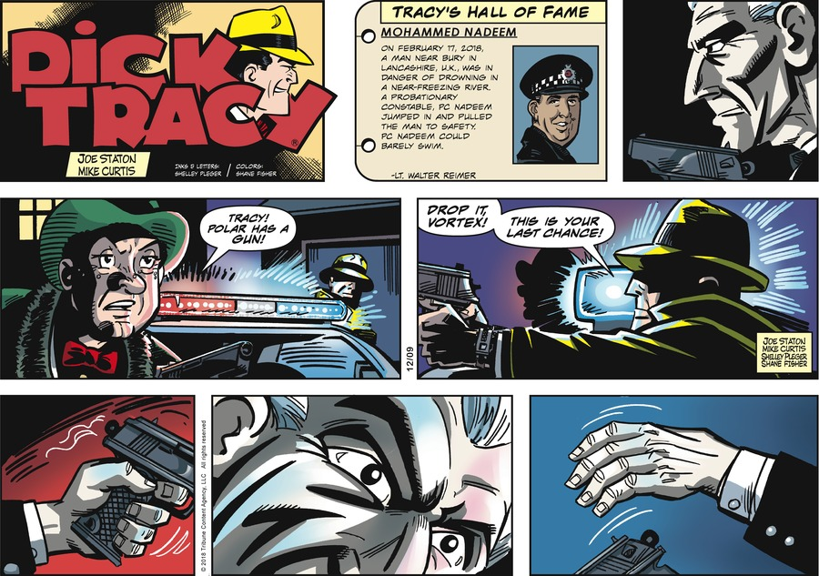 Dick Tracy Comic Strip for December 09, 2018