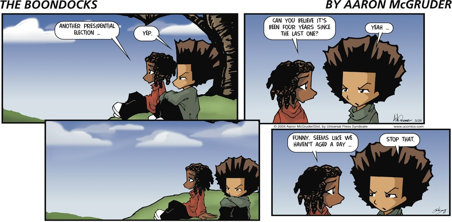 The Boondocks for Mar 28, 2004 Comic Strip