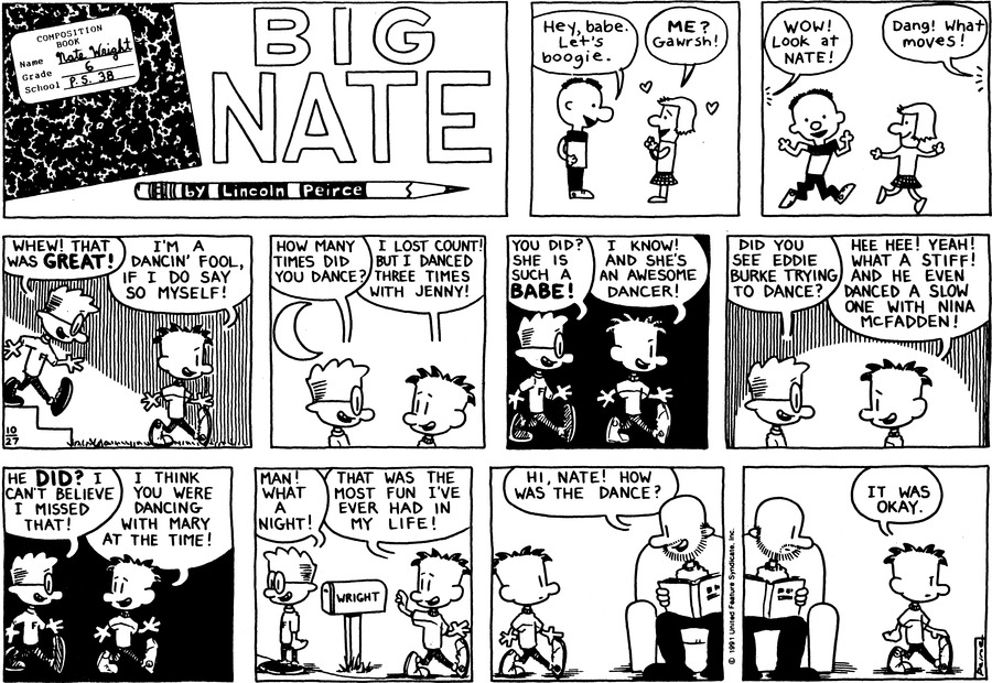 Big Nate Comic Strip for October 27, 1991