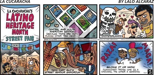 La Cucaracha on Sunday October 7, 2018 Comic Strip