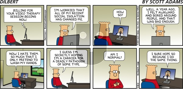 Dilbert on Sunday April 18, 2021 Comic Strip