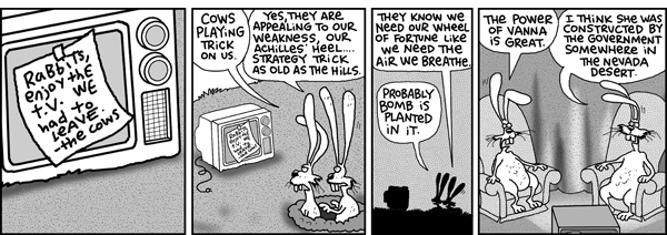 2 Cows and a Chicken for Aug 14, 2008 Comic Strip