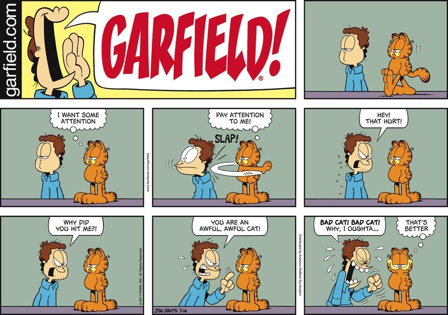 Garfield Comic Strip for July 16, 2017