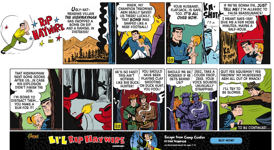 Rip Haywire Comic Strip for April 24, 2016