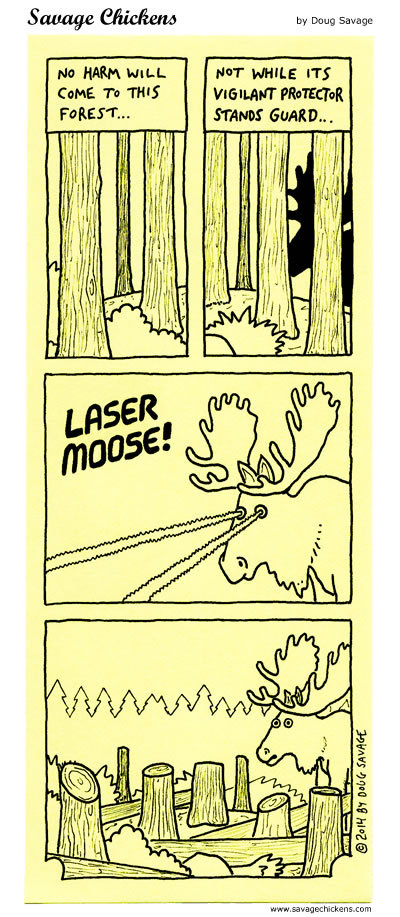 No harm will come to this forest....