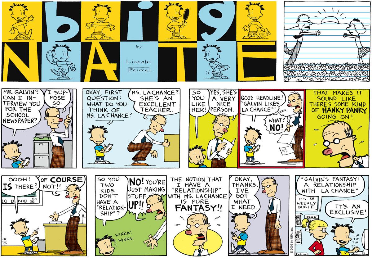 Big Nate Comic Strip for October 15, 2006