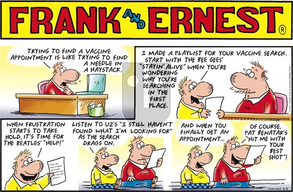 Frank and Ernest on Sunday May 2, 2021 Comic Strip