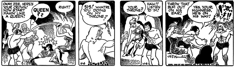 Alley Oop Comic Strip for April 06, 1949