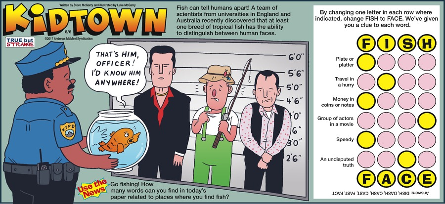 KidTown Comic Strip for August 06, 2017