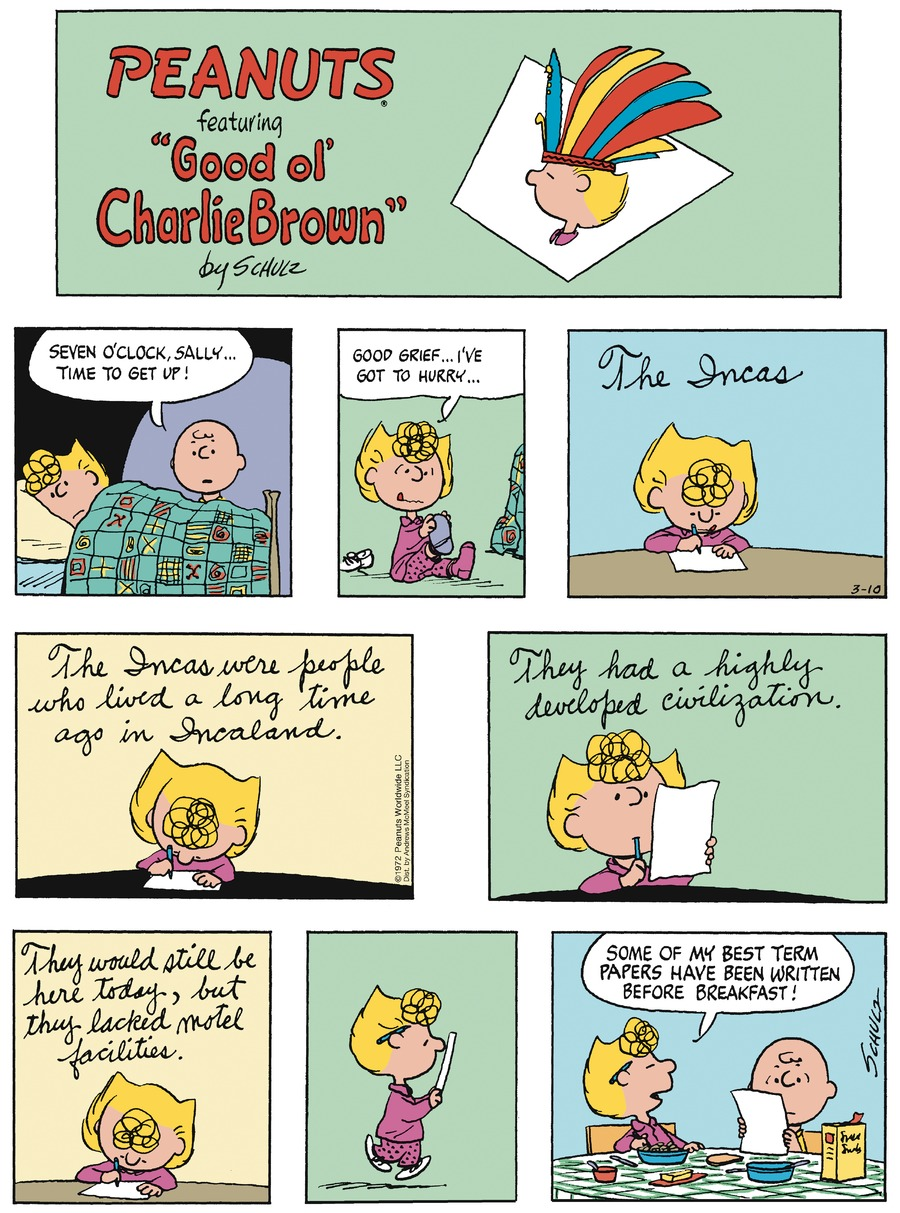 Peanuts by Charles Schulz for March 10, 2019