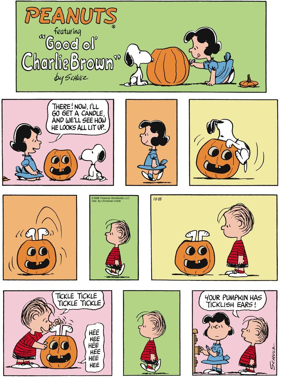 Peanuts Comic Strip for October 25, 2015