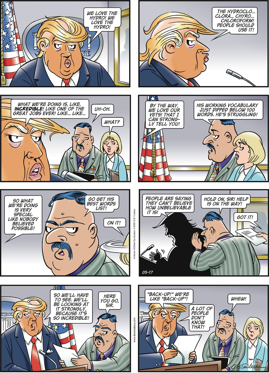 Doonesbury Comic Strip for May 17, 2020