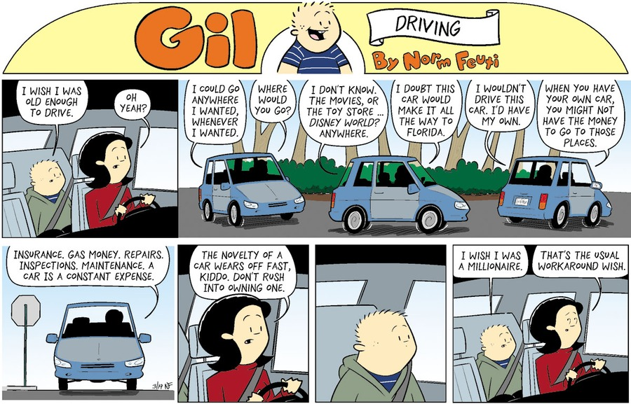 Gil Comic Strip for March 14, 2021