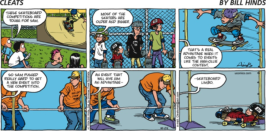 Cleats Comic Strip for October 24, 2004