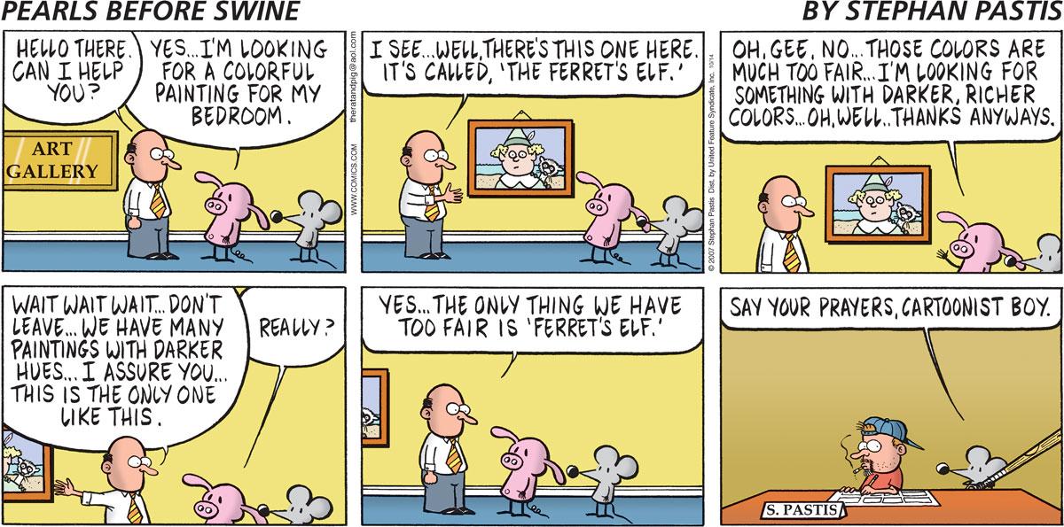 Pearls Before Swine Comic Strip for October 14, 2007