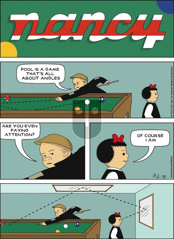 Nancy on Sunday October 25, 2020 Comic Strip