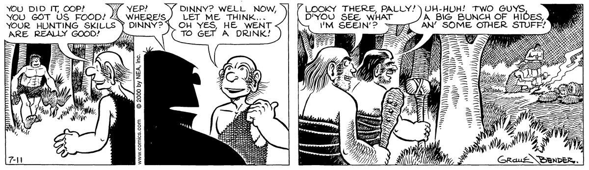 Alley Oop for Jul 11, 2000 Comic Strip