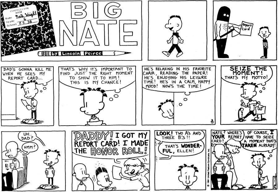 Big Nate: First Class Comic Strip for March 22, 2015