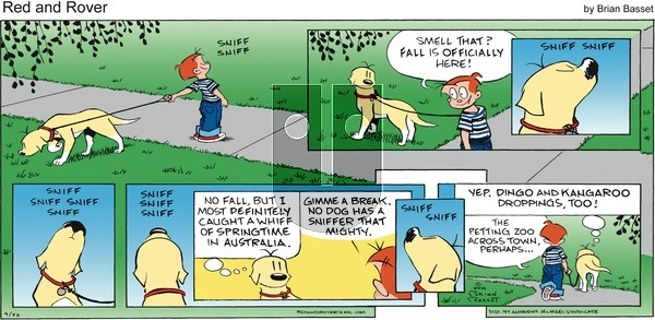 Red and Rover - Sunday September 22, 2019 Comic Strip