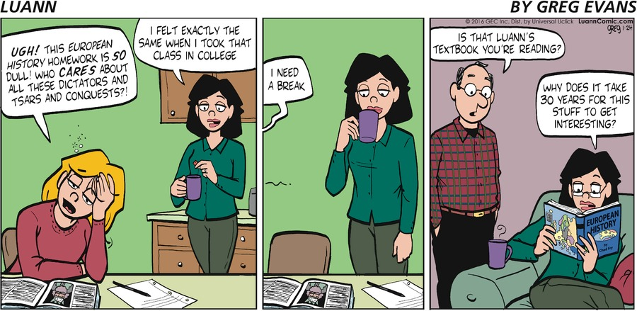 Luann Comic Strip for January 24, 2016