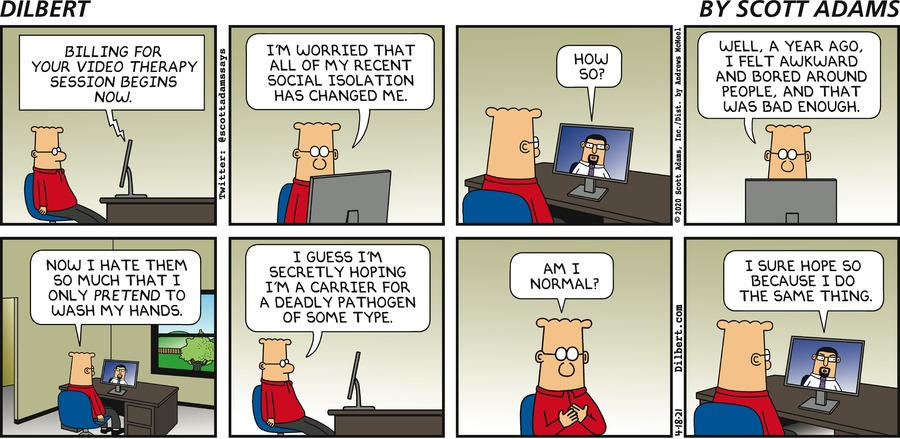 Online Therapy - Dilbert by Scott Adams
