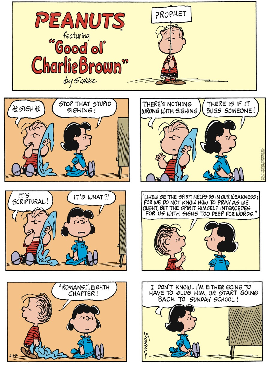 Peanuts by Charles Schulz on Sun, 14 Feb 2021