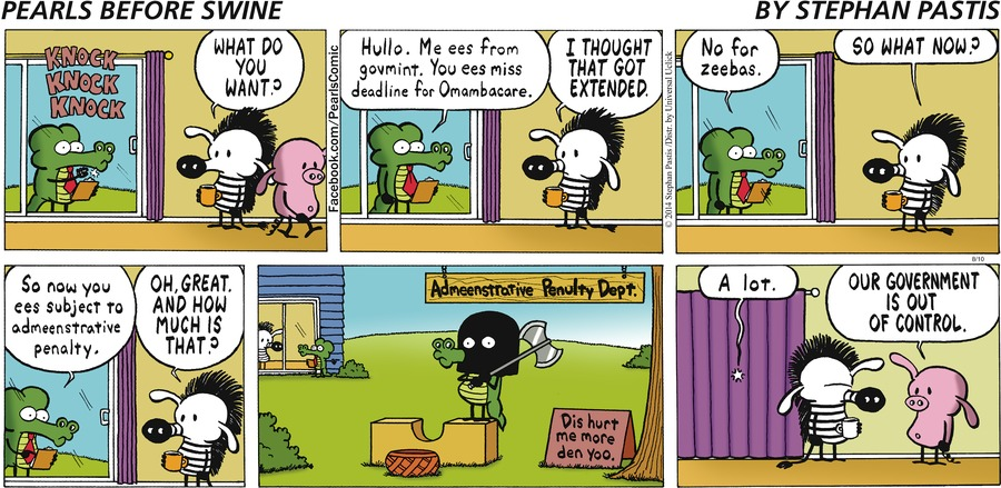 Pearls Before Swine Comic Strip for August 10, 2014