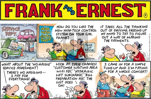Frank and Ernest - Sunday May 31, 2015 Comic Strip