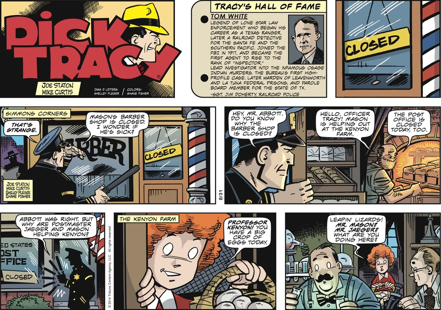 Dick Tracy for Aug 31, 2014 Comic Strip