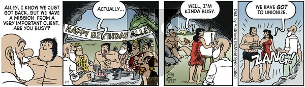 Alley Oop - Monday February 3, 2020 Comic Strip