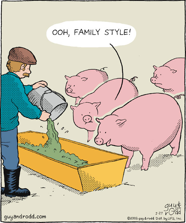 """Ooh, family style!"""