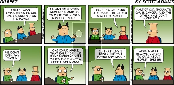 Dilbert on Sunday February 9, 2020 Comic Strip