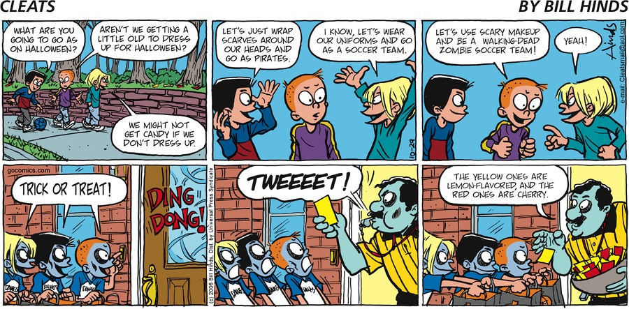 Cleats Comic Strip for October 29, 2006