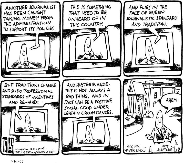 Tom Toles for Jan 30, 2005 Comic Strip