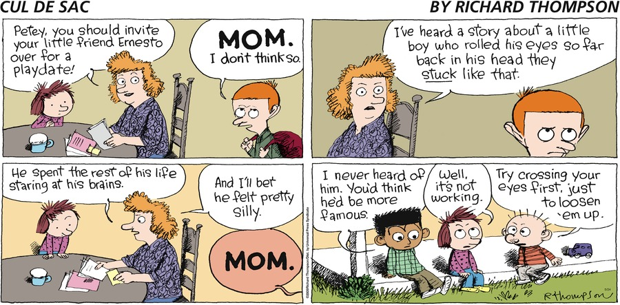Cul de Sac Comic Strip for May 24, 2009