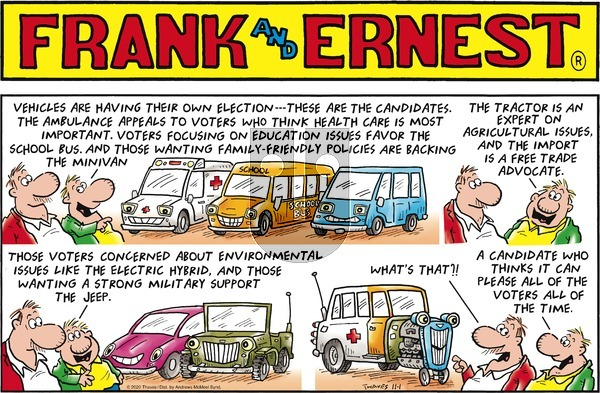 Frank and Ernest on Sunday November 1, 2020 Comic Strip