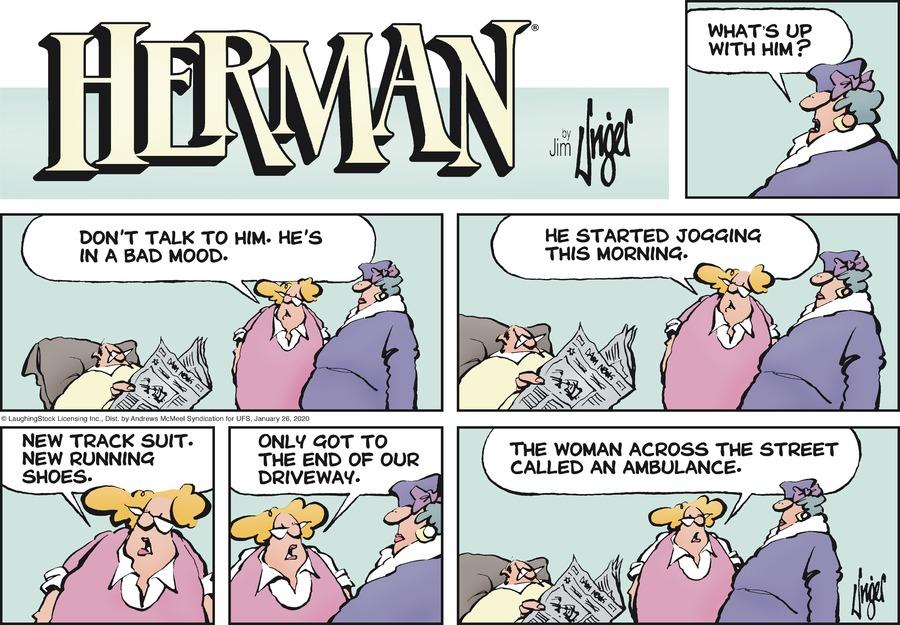 Herman Comic Strip for January 26, 2020