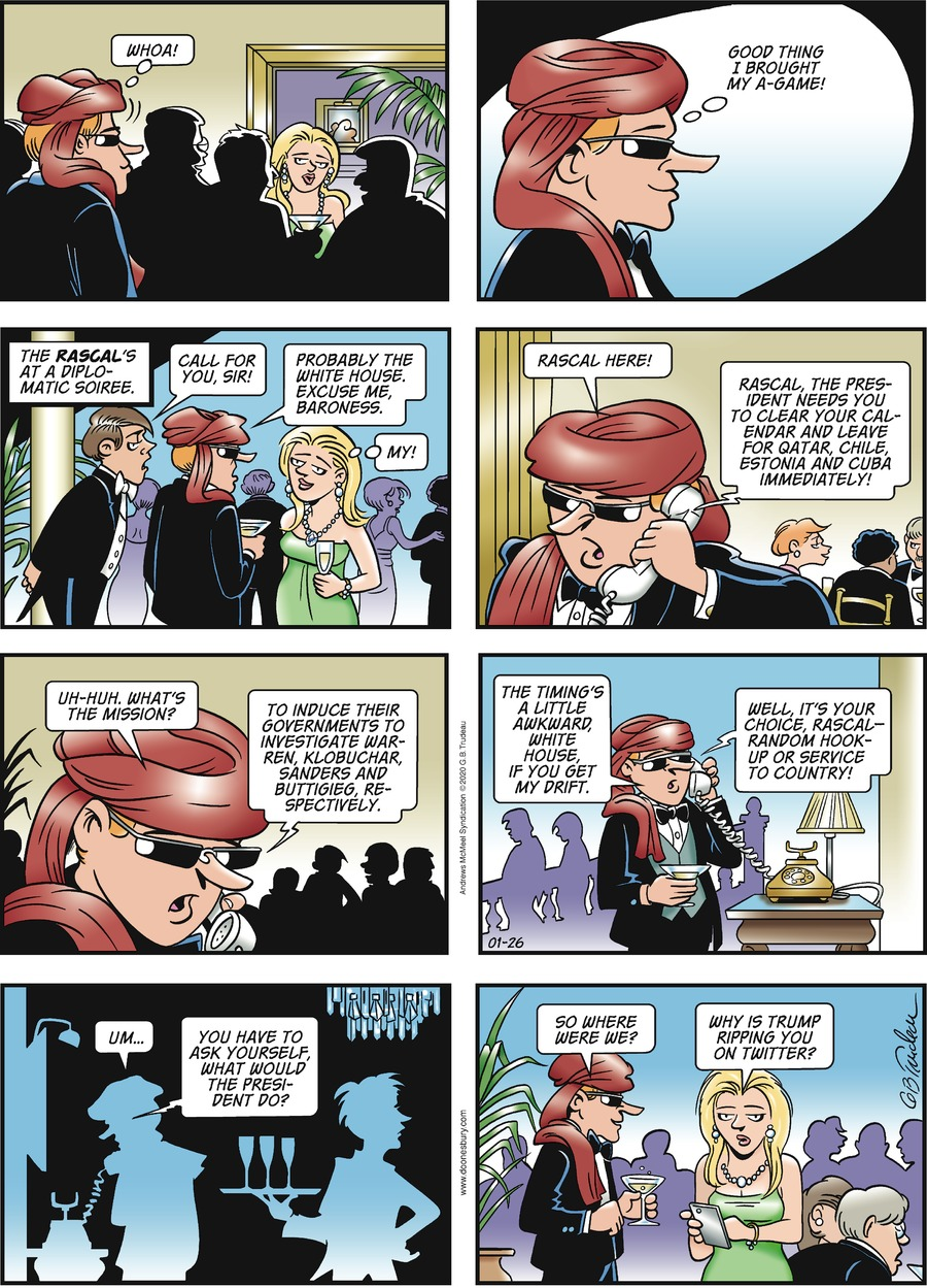 Doonesbury Comic Strip for January 26, 2020