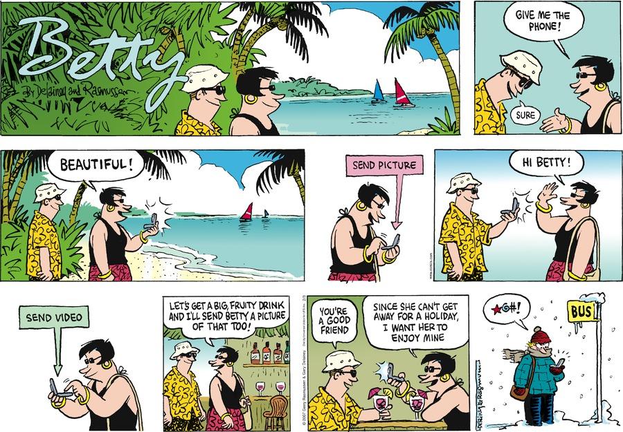 Betty for Feb 3, 2013 Comic Strip