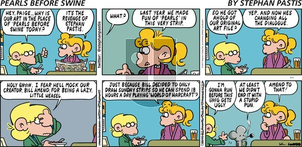 Pearls Before Swine on Sunday March 19, 2017 Comic Strip