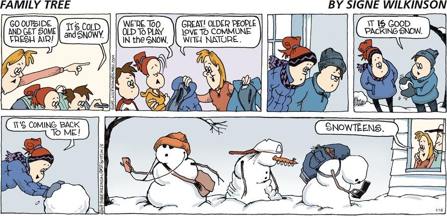 Family Tree Comic Strip for January 18, 2009