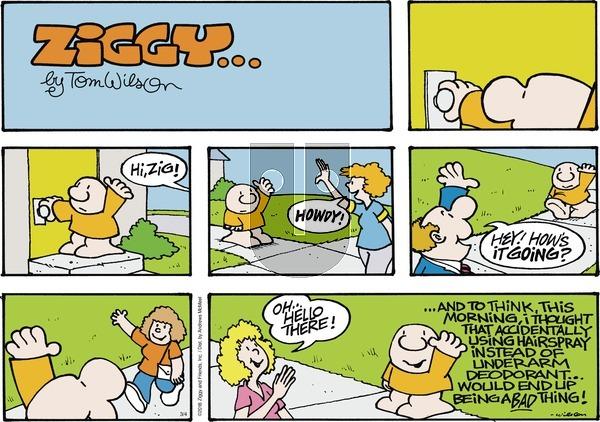 Ziggy on Sunday March 4, 2018 Comic Strip