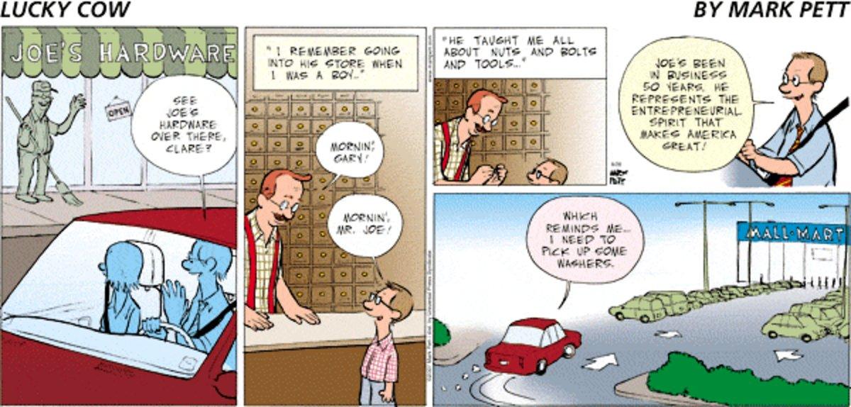Lucky Cow for Aug 24, 2014 Comic Strip