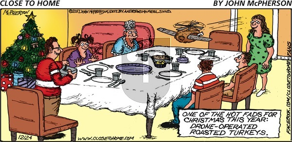 Close to Home on Sunday December 24, 2017 Comic Strip