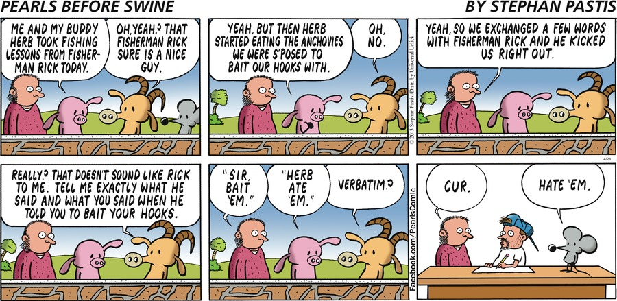 Pearls Before Swine for Apr 21, 2013 Comic Strip