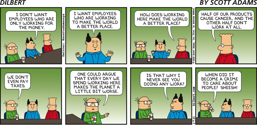 Making World Better Place - Dilbert by Scott Adams