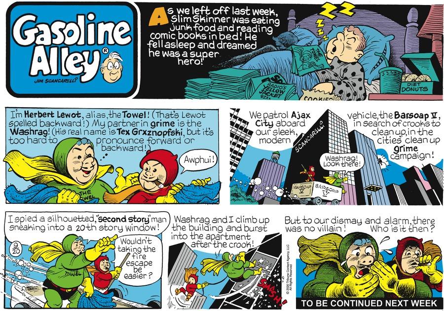 Gasoline Alley Comic Strip for September 20, 2020