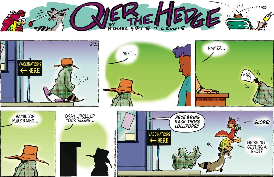 Over the Hedge by T Lewis and Michael Fry on Sun, 02 May 2021